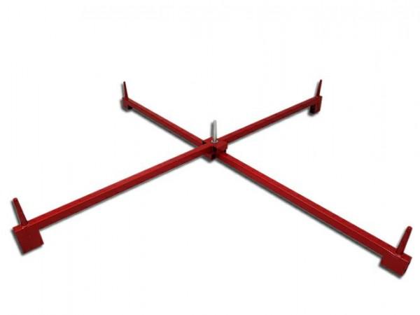 Easyfix Scherenständer für 5 Bäume, 130 cm, rot lackiert