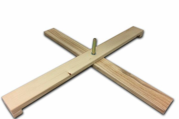 Cross stand spruce, 78 cm, foldable, pin with thread